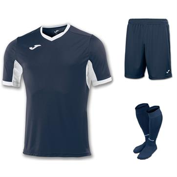 Joma Champion IV Full Kit Bundle of 10 (Short Sleeve) - Dark Navy/White