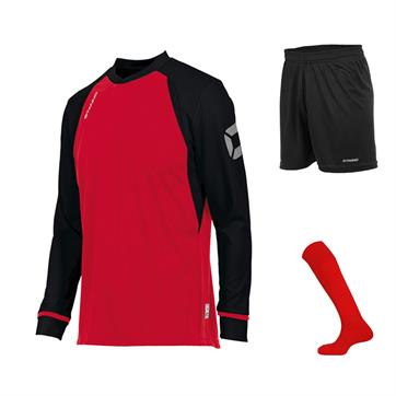 Stanno Liga Club Full Kit Bundle of 10 (Long Sleeve) - Red/Black