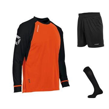 Stanno Liga Club Full Kit Bundle of 10 (Long Sleeve) - Shocking Orange/Black