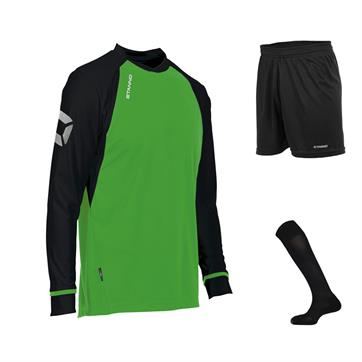 Stanno Liga Field Long Sleeve Full Kit Set - Bright Green/Black