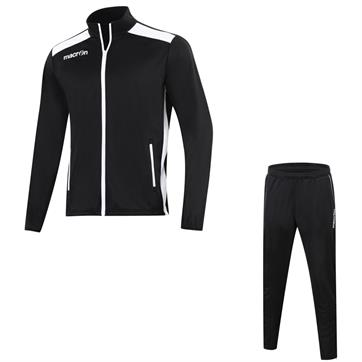 Macron Nixi Full Poly Slim Fit Tracksuit - Black / White