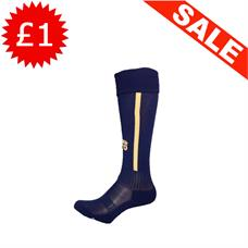 Clearance Football Socks - Navy / Gold Stripe (Kids 11-1)