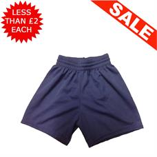 "Clearance Football Shorts - Bundle of 14 x Navy (26/28"")"