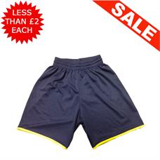 Clearance Football Shorts - Bundle of 8 x Navy / Yel (mix)