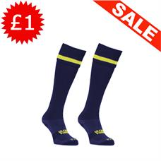 Clearance Football Socks - Navy / Yellow Band (3-6)