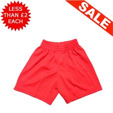 "Clearance Football Shorts - Bundle of 12 x Red (26/28"")"