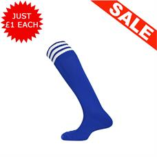 Clearance Football Socks - Royal / 3 White x 23 (Kids 12-2)