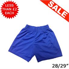 "Clearance Football Shorts - Bundle of 12 x Royal (28/29"")"