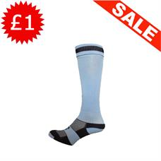 Clearance Football Socks - Sky / Navy Band (3-6, 7-11)