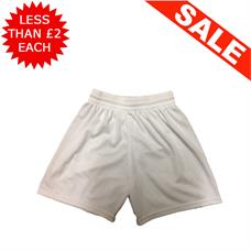Clearance Football Shorts - Bundle of 10 x White (Small)