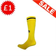 Clearance Football Socks - Yellow / Royal Band (3-6)