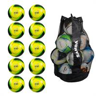 Ball Sack of 10 Samba Infiniti Training Footballs (Sizes 3,4,5)