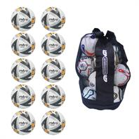 Ball Sack of 10 Mitre Ultimatch Max Hyperseam Match Footballs 2018 (4,5)
