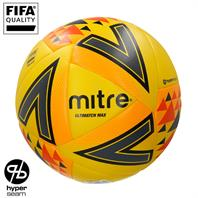 Mitre FLUO Ultimatch Max Hyperseam Match Football  (4,5)