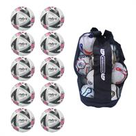 Ball Sack of 10 Mitre Ultimatch Plus Hyperseam Match Footballs (3,4,5)