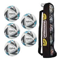 Tube of 5 Mitre Ultimatch Core Hyperseam Match Footballs 2018