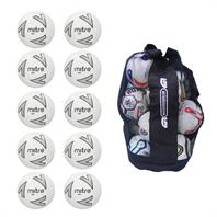 Ball Sack of 10 Mitre Impel Core Training Footballs 2018 (2,3,4,5)