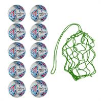 Net of 10 Mitre Delta EFL Replica Footballs (Sizes 3,4,5)