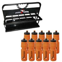 Precision Folding Carrier Water Bottle Set (10 x Bottles & Carrier)