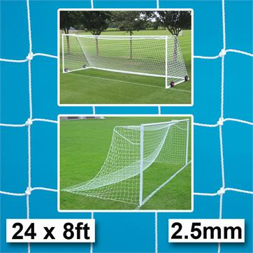 Harrod 2.5mm Socketed & Freestanding Steel Goal Post Nets (PAIR) (24 x 8ft)