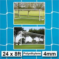 Harrod 4mm Polyethylene Portagoal & Weighted Portagoal  Nets (PAIR) (24 x 8ft)