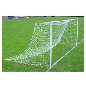 Harrod Super Heavyweight Socketed 76mm Round Steel Goal Posts - With Locking Sockets (21 x 7ft) (Pair)