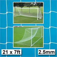 Harrod 2.5mm Continental Goal Nets (PAIR) (21 x 7ft) for Socketed & Steel Freestanding Goals