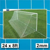 Harrod 2mm Socketed Steel Goal Post Nets (PAIR) (24 x 8ft)