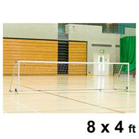 Harrod Folding Wheelaway Steel Goal Posts (PAIR) (8 x 4ft)