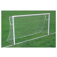 Harrod Socketed Super Heavyweight 76mm Steel Round Goal Posts (PAIR) (12 x 6) - With Locking Posts