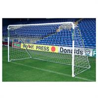 Harrod Supa 7 Steel Portable Goal Post (Single) (12 x 6ft) Includes Bag, Net & Clips