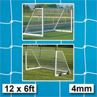 Harrod 4mm Aluminium Portagoal & Weighted Portable Goal Nets (PAIR) (12 x 6ft) (3.66m x 1.83m)