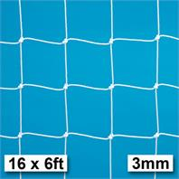 Harrod 3mm Socketed, Aluminium Freestanding & Fence Folding Heavy Duty Goal Nets (Pair) (16 x 6ft)