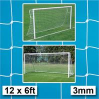 Harrod 3mm Heavy Duty Goal Nets (PAIR) (12 x 6ft) (3.66m x 1.83m)
