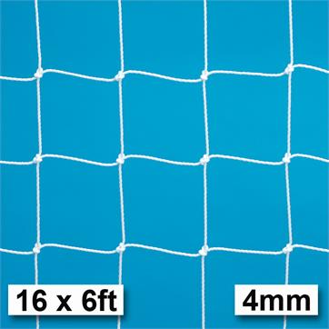 Harrod 4mm Braided Extra Heavy Duty Goal Nets Fits Galvanised Goal Posts (PAIR) (16 x 6ft)