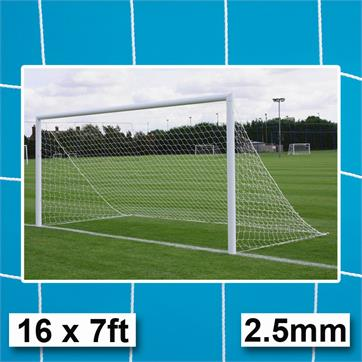 Harrod 2.5mm Straightback Goal Nets (16 x 7ft) GOALS WITHOUT NET SUPPORTS