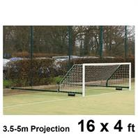 Harrod 3G Aluminium Fence Folding Goal Posts (3.5 - 5.0m Projection) (PAIR) (16 x 4ft)