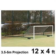 Harrod 3G Aluminium Fence Folding Goal Posts (3.5 - 5.0m Projection) (PAIR) (12 x 4ft)
