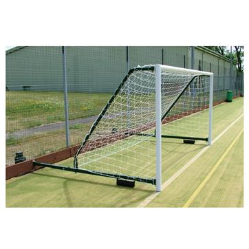 Harrod 3G Aluminium Fence Folding Goal Posts (PAIR) (12 x 6ft) with (2.3 - 3.5m Projection)