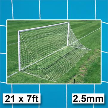 Harrod 2.5mm Straightback Goal Nets (PAIR) (21 x 7ft) GOALS WITHOUT NET SUPPORTS