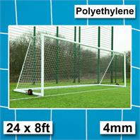 Harrod 4mm Polyethylene Integral Weighted  Goal Nets with 2.13m Runback (PAIR) (24 x 8ft)