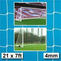 Harrod 4mm Integral Weighted & Demountable Goal Nets (PAIR) (21 x 7ft)
