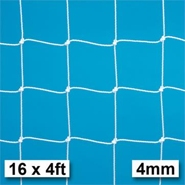 Harrod 4mm Extra Heavy Duty Integral Weighted Portagoal Nets (PAIR) (16 x 4ft) (4.88m x 1.22m)