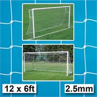 Harrod 2.5mm Standard Goal Nets (PAIR) (12 x 6ft) (3.66m x 1.83m)