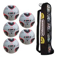 Tube of 5 iPro Hibrid Match Footballs (Sizes 4,5)