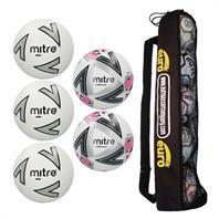 Mitre Matchday 1 Football Tube Bundle (3 Impel Core, 2 Ultimatch Plus)