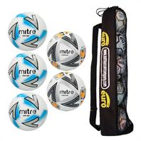 Mitre Matchday Max Football Tube Bundle (3 Impel Max, 2 Ultimatch Max)