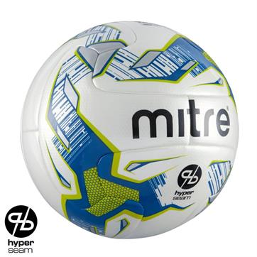Mitre Element Hyperseam Match Football - With Abrasion Coating (Size 4, 5)