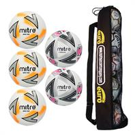 Mitre Matchday Plus Football Tube Bundle (3 Impel Plus, 2 Ultimatch Plus)