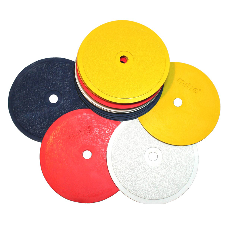 Mitre Flat Disc Sports Markers Set (20 x Discs & Bag)